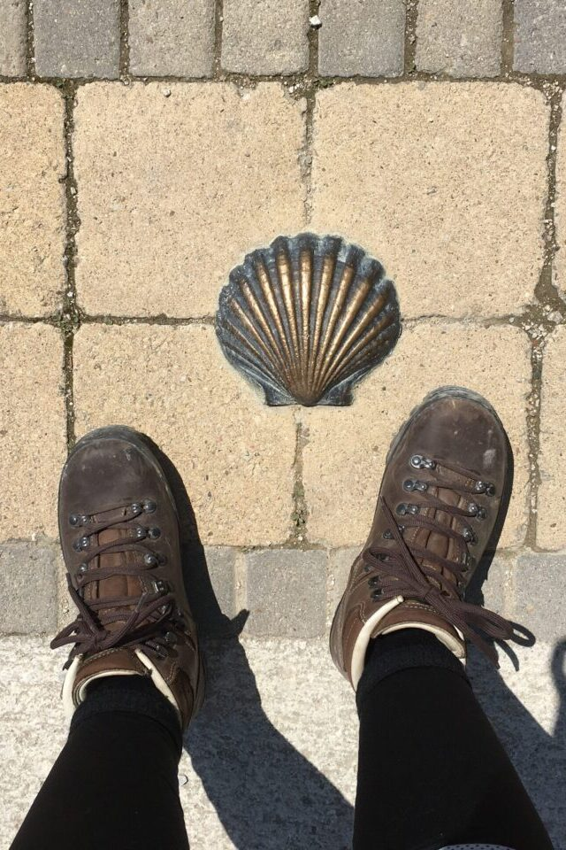 """Feet on the Camino de Santiago"""